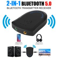 Bluetooth Audio Adapter, TSV 2-IN-1 Wireless Bluetooth 5.0 HIFI Music Receiver, Portable 3.5mm Wireless Audio Adapter for Headphone, TV, Smart Phone, Tablet and More