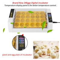 UBesGoo Full Automatic Poultry 24  Digital Chick Duck Egg Incubator Temperature Control Yellow