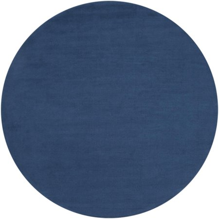 9 75 Rogue Love Federal Blue Hand Loomed Wool Round Area Throw Rug