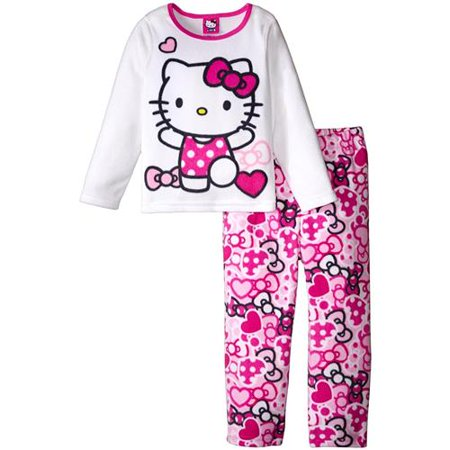 bcc46df3b Hello Kitty - Hello Kitty Girls 2T-4T Fleece Pajama Set (White 2T ...