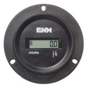 ENM TB44B69A Hour Meter, 3-Hole Round, LCD,Flange