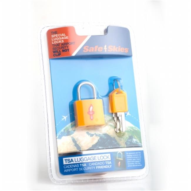Safe Skies No. 207b TSA-Approved padlock single-pack - Sunburst Yellow