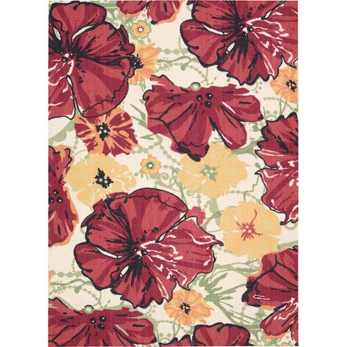 Nourison Vista Vibrant Floral Bloom Decorative Rug
