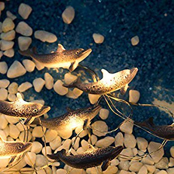 Dolphin Fairy String Lights,10FT Copper Wire 30 LEDs Battery Operated Fun Indoor Lights for Bedroom, Children Room, Patio, Party, Home, Wedding, Mirror, DIY Party Decorations