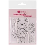 """Woodware Clear Stamps 3.5""""X3.5"""" Sheet-Key Bear"""