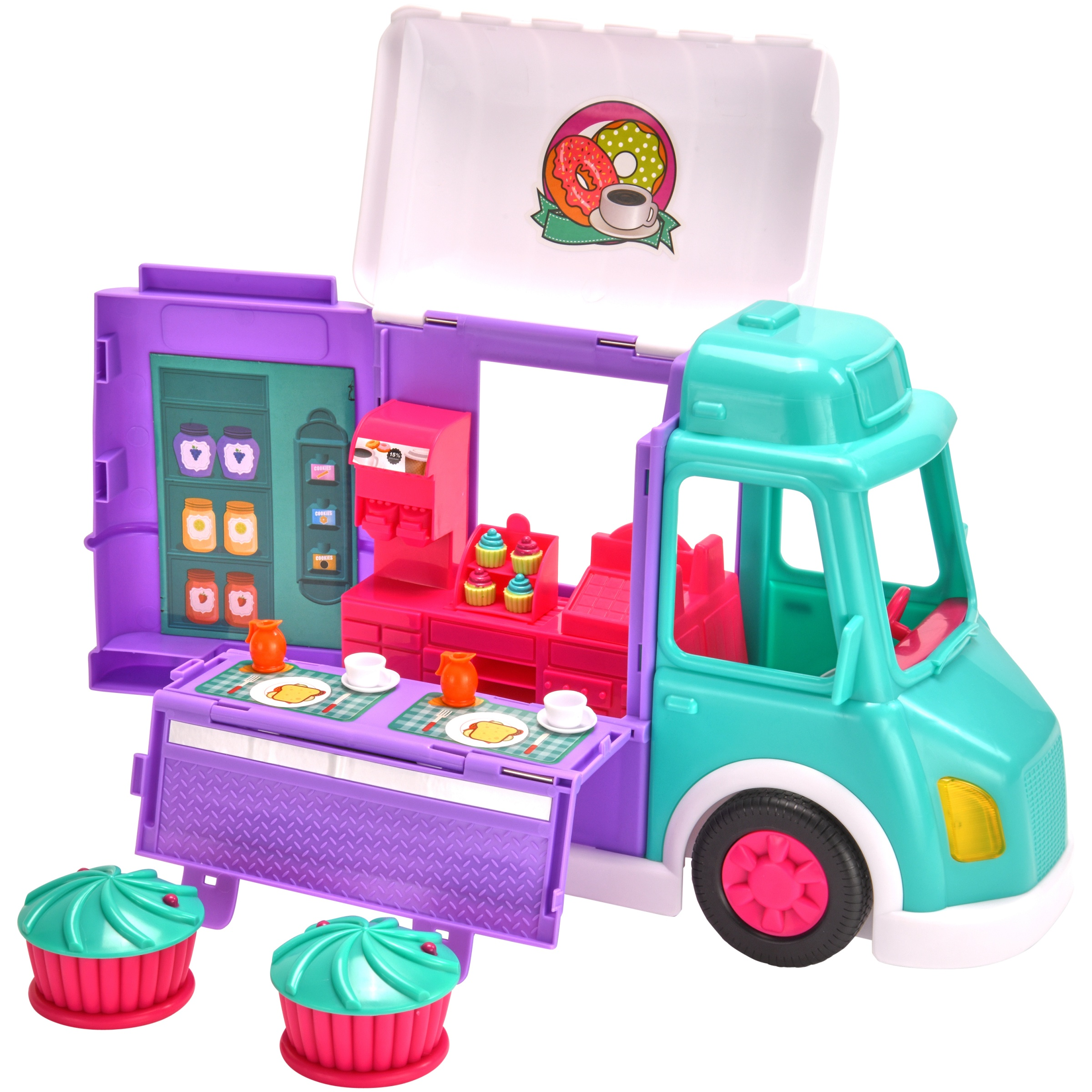 Kid Connection 17-Piece Food Truck Play Set with Lights & Sounds