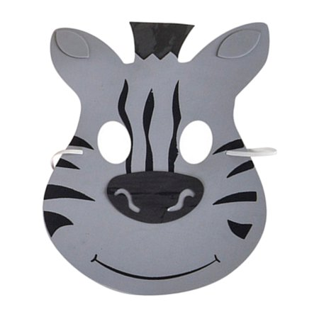 New Halloween Costume Party Foam Zoo Animal Zebra Mask - Zebra Mask