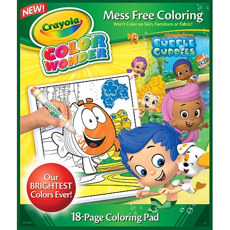 Crayola Color Wonder Nickelodeon Bubble Guppies Coloring Pad, 18 ...