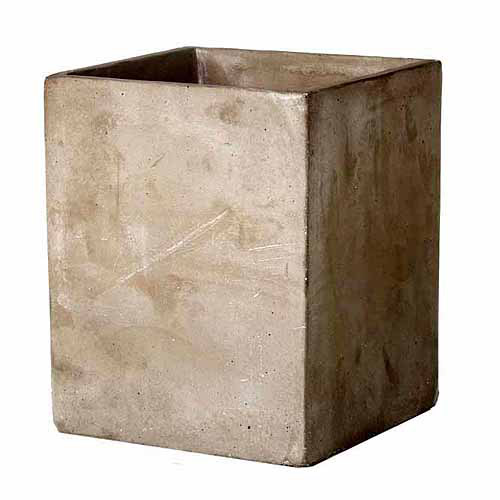 "Image of 5.5"" x 5.5"" x 7"" Cement Square Planter Large"