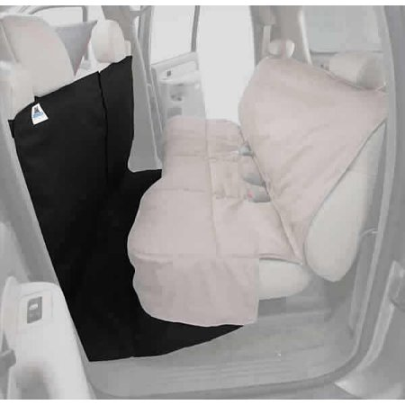 CoverAll Rear Seat Protector: 2009-10 Fits FORD F-150 SUPERCREW (Polycotton, Black)