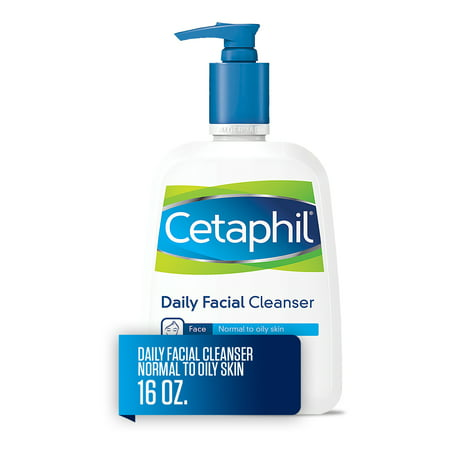 Cetaphil Daily Facial Cleanser, Face Wash For Normal to Oily Skin, 16