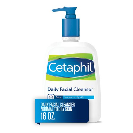 Oil Free Face Cleanser (Cetaphil Daily Facial Cleanser, Face Wash For Normal to Oily Skin, 16 Oz )