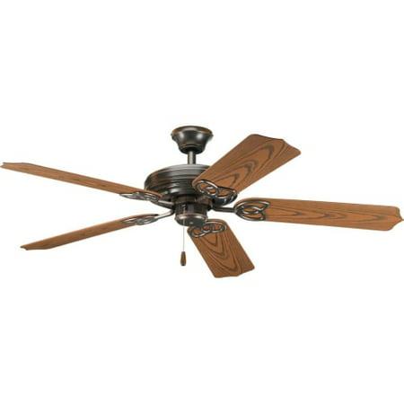 """Progress Lighting Patio 52 Patio 52"""" 5 Blade Indoor / Outdoor Ceiling Fan - Blad"""