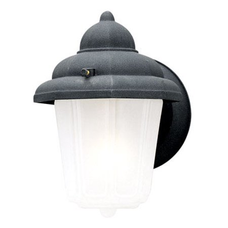Black Wall Mount Exterior Light (Westinghouse Lighting 6688100 Black One-Light Exterior Wall Lantern With Frosted)
