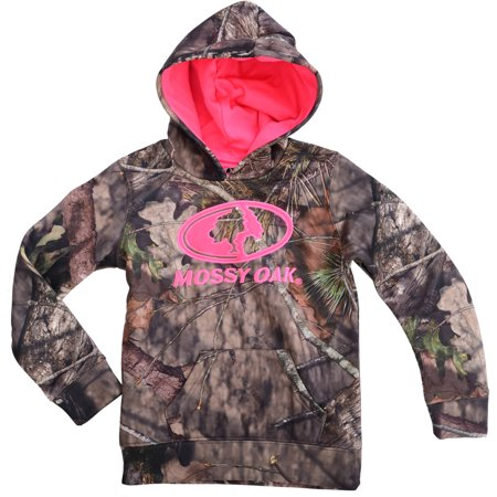 Realtree and mossy oak girls camo performance pullover for Realtree camo flannel shirt