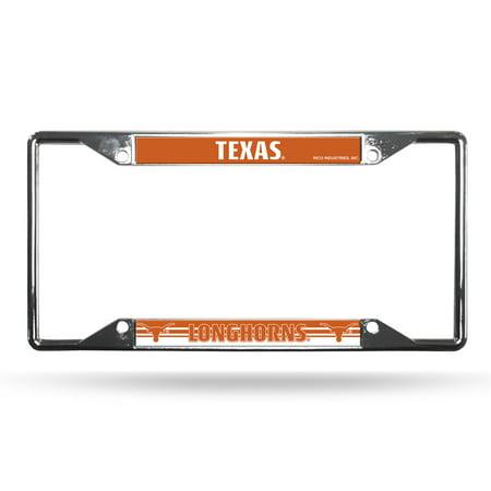 Texas Longhorns License Plate Frame Chrome EZ View