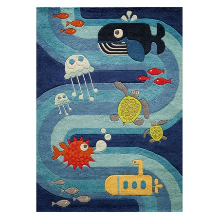 Momeni Lil Mo Whimsy Ocean Life Area Rug