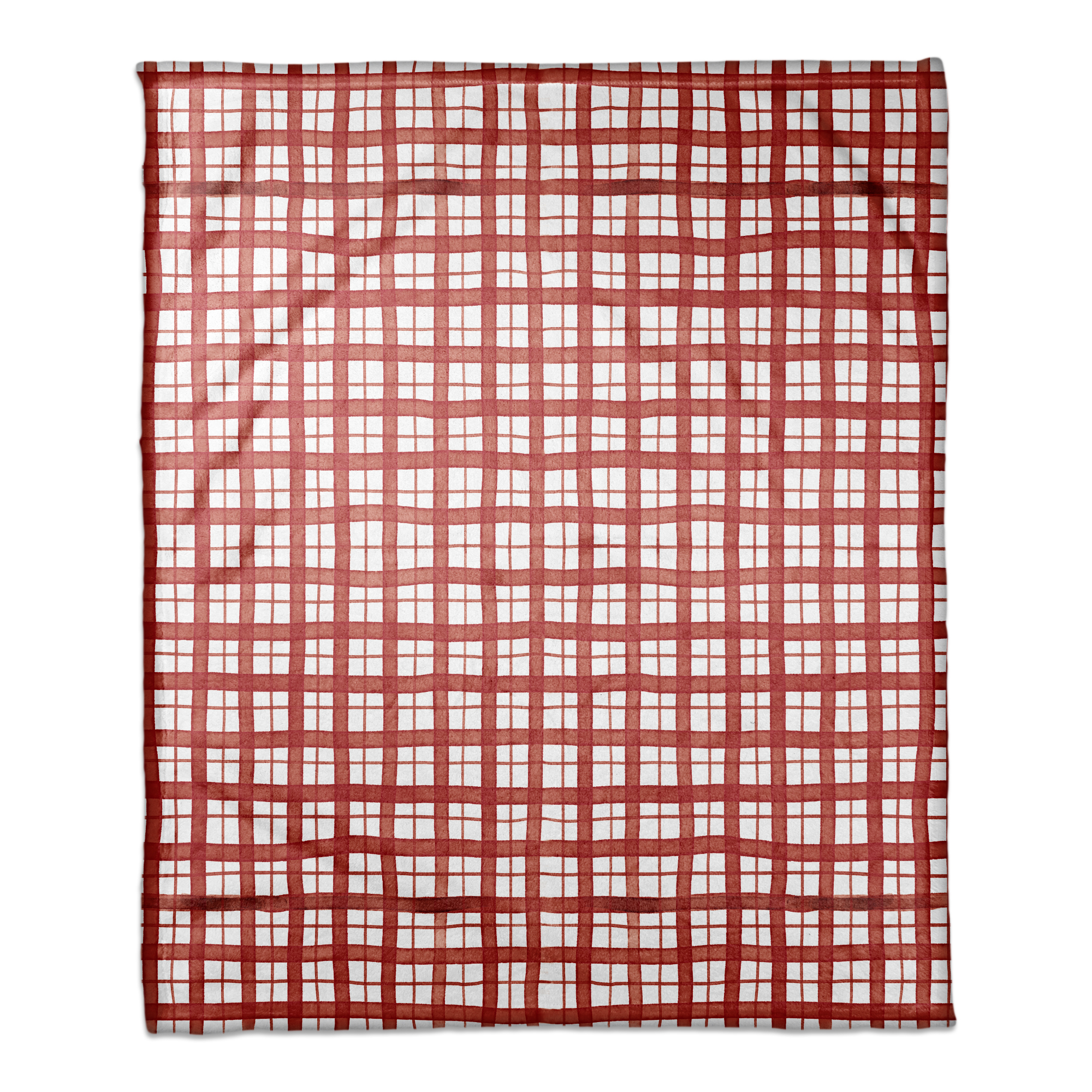 Christmas Red Plaid 50x60 Coral Fleece Blanket