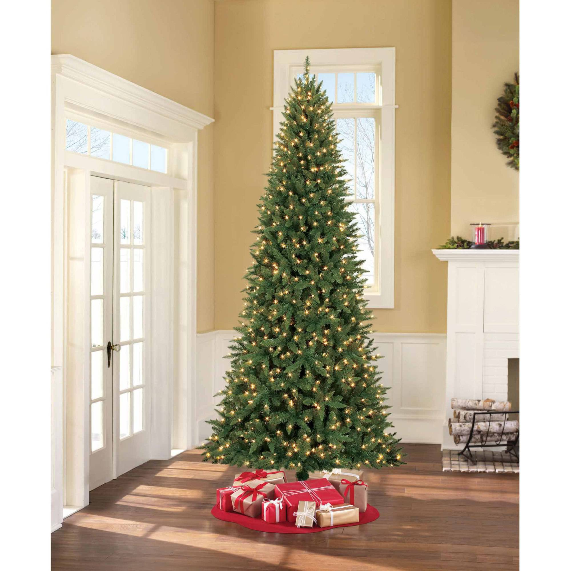 Artificial Christmas Tree Pre Lit 9u0027 Williams Pine, Clear Lights    Walmart.com