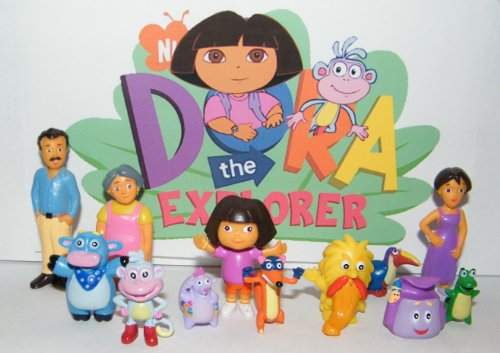 Nickelodeon Dora The Explorer Deluxe Figure Set Toy Playset of 12 with Dora, Boots, Tico,... by