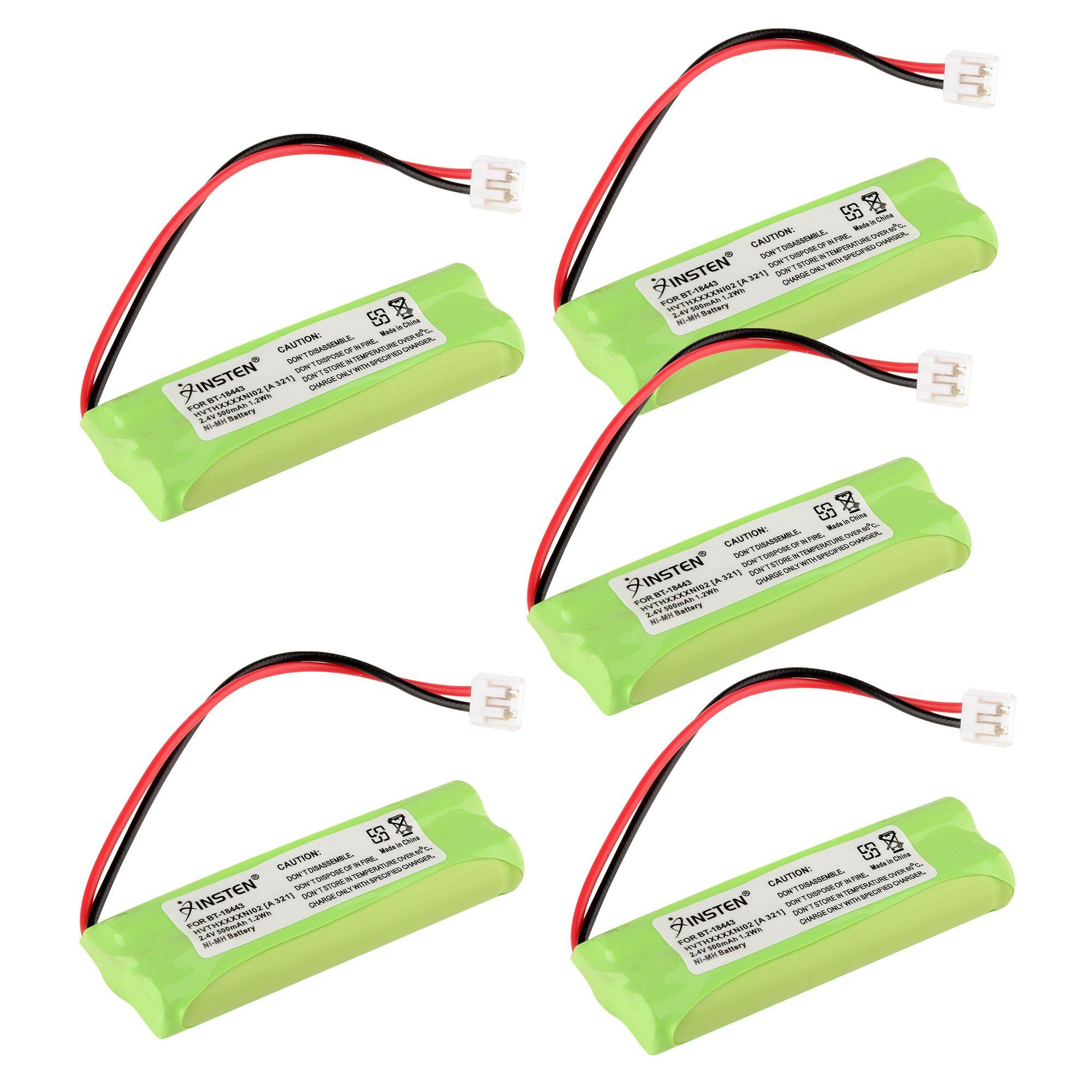 Insten Extra Ni-Mh Cordless Phone Battery Power For Vtech BT-18443 6115 6117 6125 6126 6217 89-1337-00-00 (5 Pack)