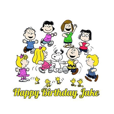Charlie Brown Peanuts Snoopy Edible Image Photo Cake Topper Sheet Personalized Custom Customized Birthday Party - 1/4 Sheet - 74228 - Snoopy Birthday