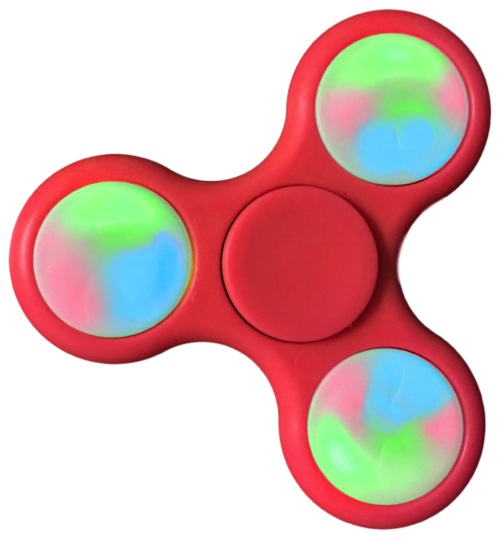Light Up LED Fidget Hand Spinner Toy Anxiety Stress Reliever Focus EDC US Seller