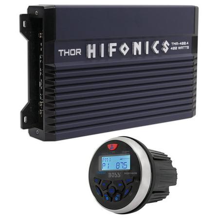 Hifonics TMA-400.4 400w 4-Ch Marine Boat ATV Amplifier Class A/B Amp+Receiver