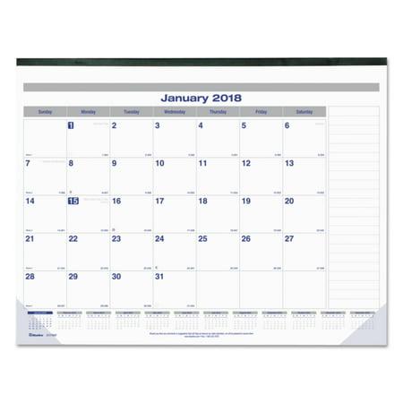 - Blueline Net Zero Carbon Monthly Desk Pad Calendar, 22 x 17, Black Band and Corners, 2018
