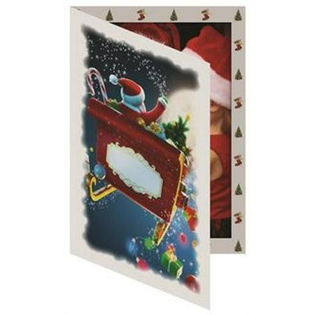 Santa Sleigh 4x6  Photo Folder Frame (package of 100)