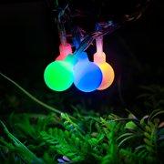 lighting ever globe ball fairy string lights 33ft 100 leds rgb colorful 8 modes - Christmas Globe Lights
