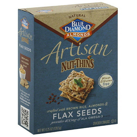 (Blue Diamond Almonds Artisan Nut-Thins Cracker Snacks, 4.25 oz, (Pack of 12))