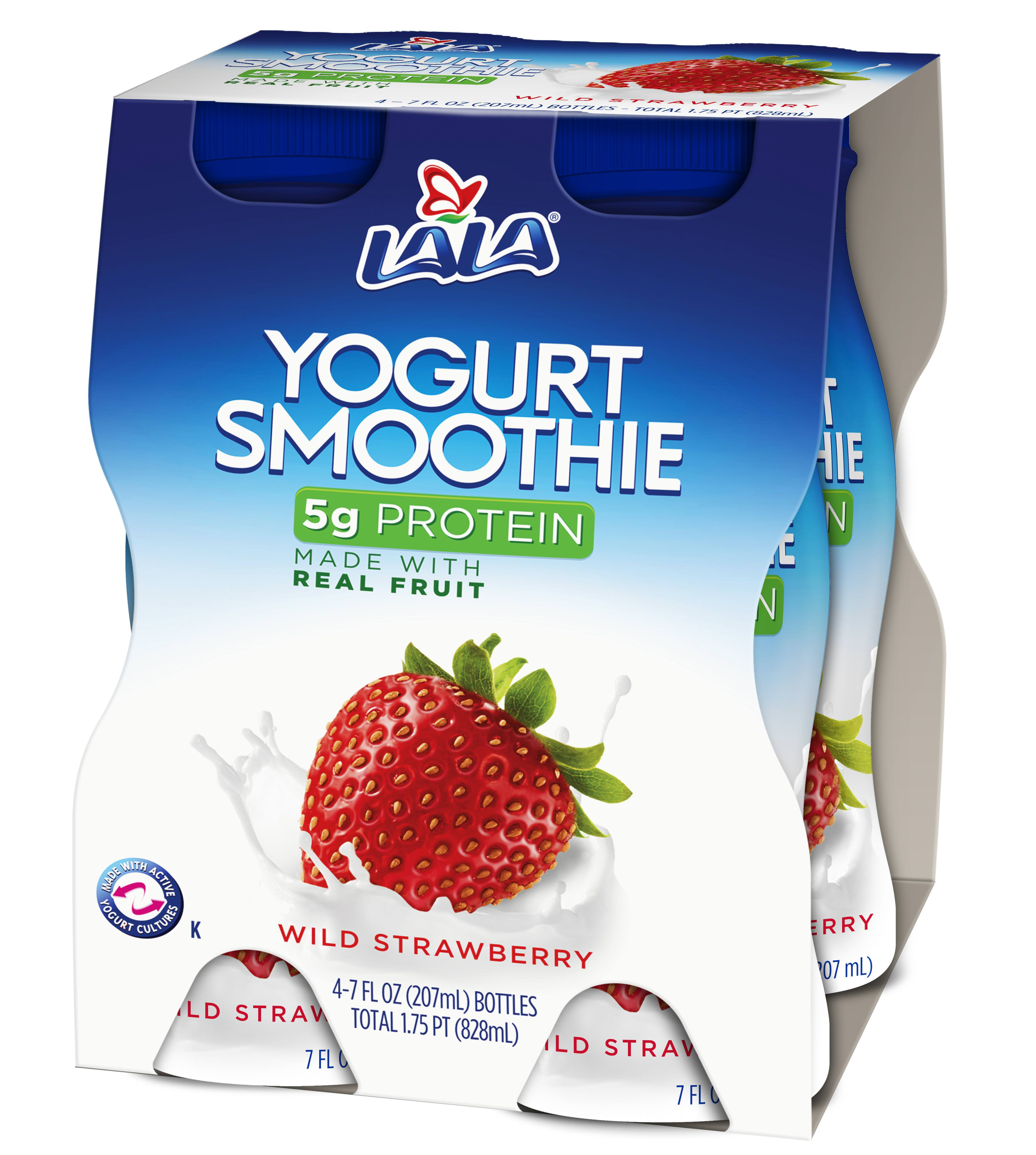LALA Drinkable Yogurt, Wild Strawberry, 7-oz, 4 Count