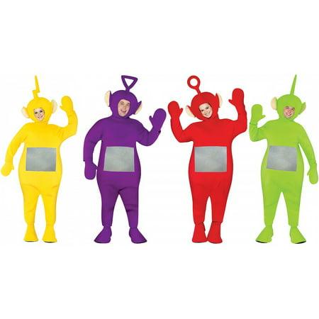 Teletubbie Adult 4 Pack Adult Costume - One Size - Teletubbie Costume Spirit Halloween