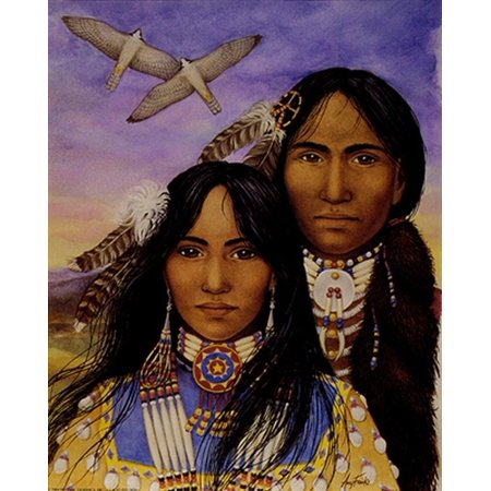 Young Indian Couple Poster Print by Amy Franks (8 x - Indian Frank
