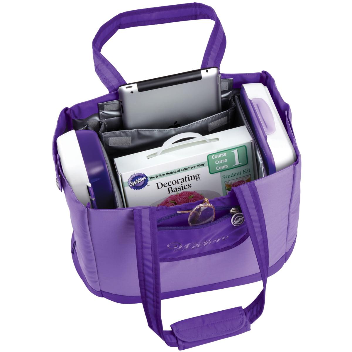 Decorator Preferred 10x17.5x14 Call-All Tote, Purple 409-3076