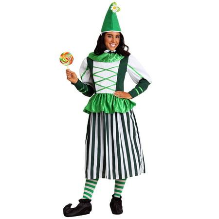 Plus Size Deluxe Munchkin Woman Costume (Munchkin Mayor Costume)