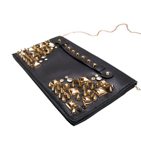 Premium Spike Studded Crossbody Flap Bag ()