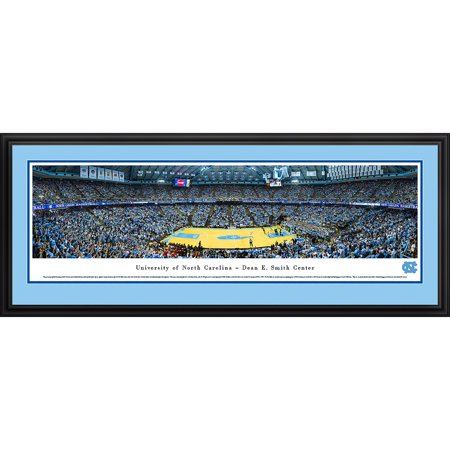 North Carolina College Basketball - North Carolina Tar Heels Basketball at Dean E. Smith Center - Blakeway Panoramas NCAA College Print with Deluxe Frame and Double Mat