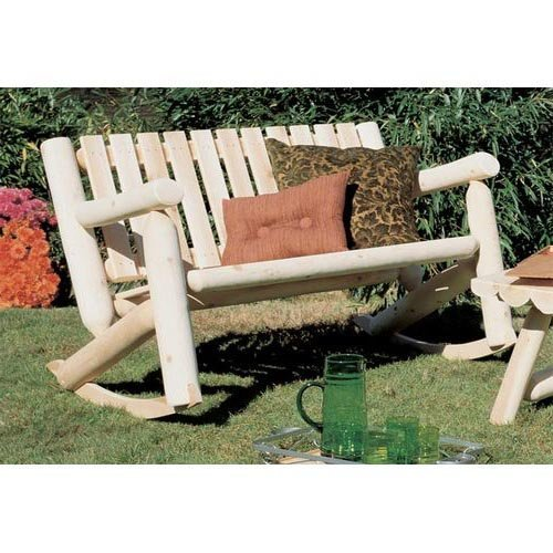 Rustic Natural Cedar Furniture 4 ft. Double Seat Rocking Bench