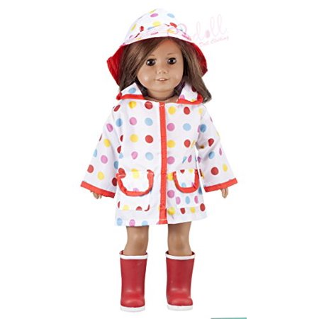 Modoll 2 Piece Fashion Doll Clothing Set for 18 Inch Dolls, Includes Raincoat, and Matching Hat, Perfect fit for American Girl Dolls, Great Idea for Birthdays, Holidays and Gifts](Halloween Doll Ideas)