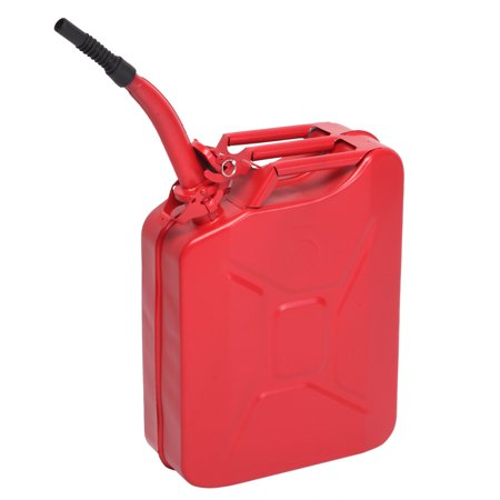 Zimtown 5 Gal 20L Jerry Can Gasoline Fuel Can Emergency Backup Caddy Tank Jerry Can Carrier