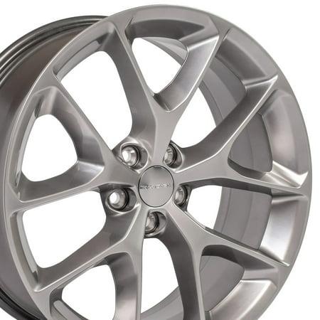 20x8 OEM Dodge wheel for Charger, Challenger - DG17 Granite Chrystal 20