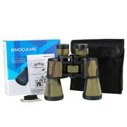Wweixi Outdoor Telescope Birdwatching Hiking Adjustable Focus Binoculars Camping Scouting Binoculars, Desert Camouflage