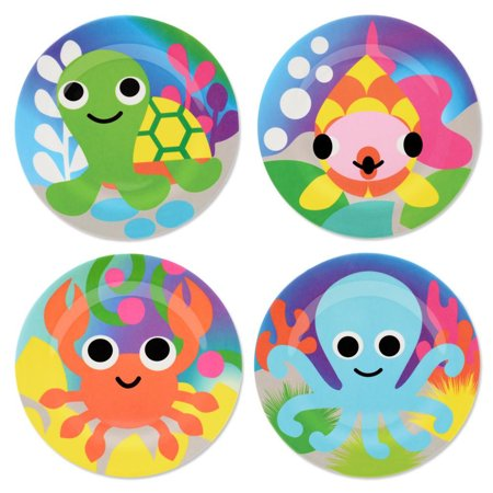 French Bull Ocean Animals 4 Piece Kids Plate Set
