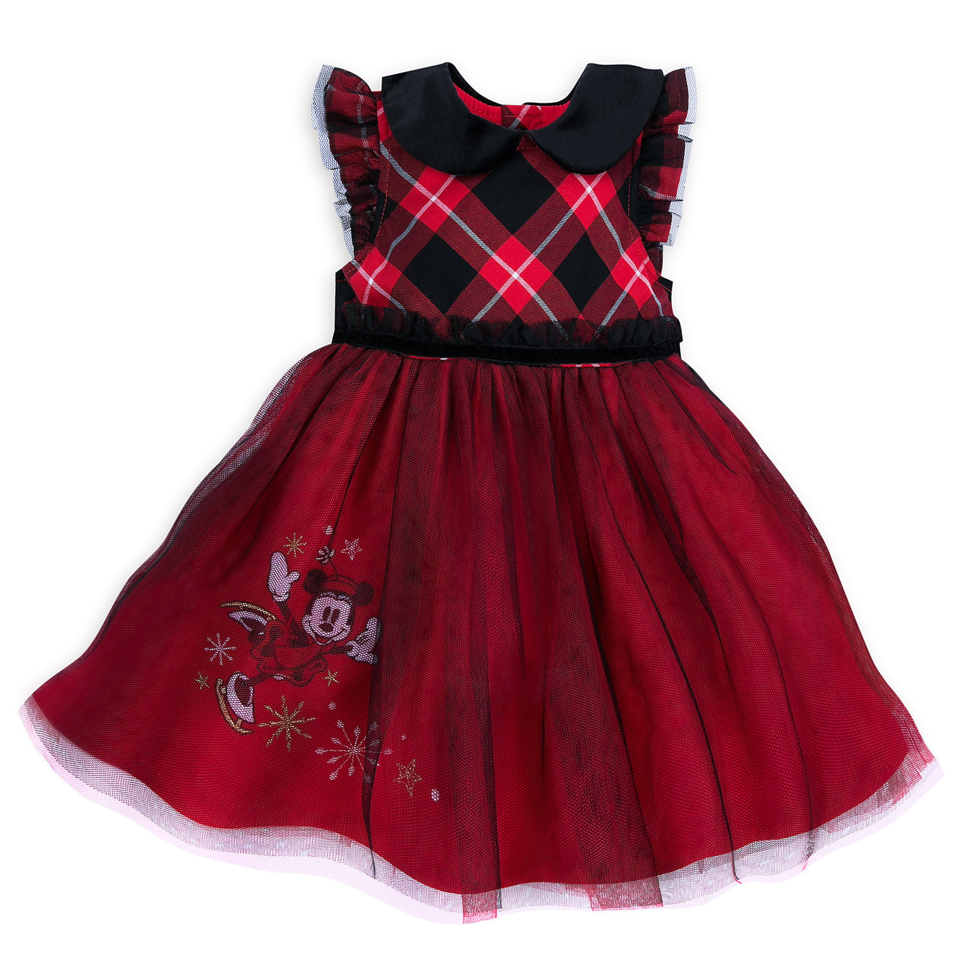 Size 6-9 Months Disney Minnie Mouse Gold Holiday Dress Set for Baby