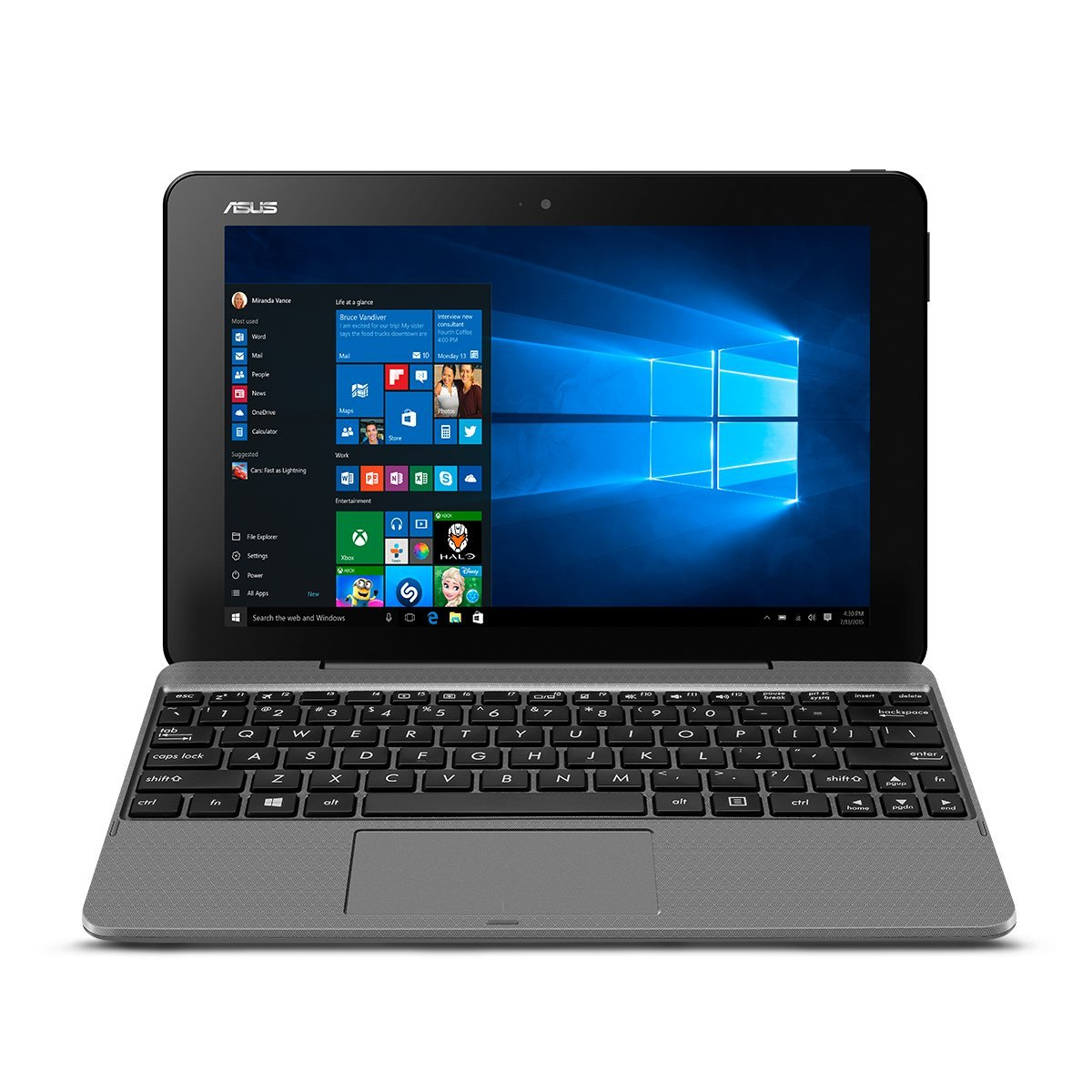 "Manufacturer Refurbished - Asus T101HA-C4-GR 10.1"" Touch Laptop Intel X5-Z8350 1.44GHz 4GB 64GB eMMC W10"