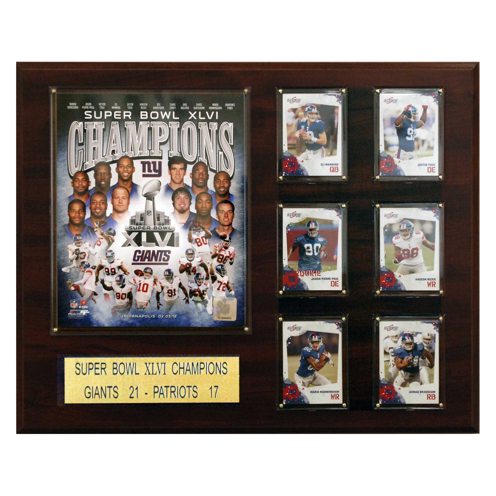 NFL 16 x 20 in. New York Giants 16 x 20 in. Super Bowl XLVI Champions Plaque