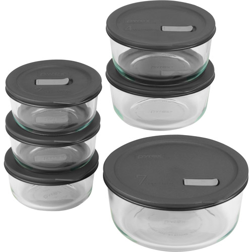 Pyrex 12-Piece No-Leak Lids  Bake, Serve & Store Set