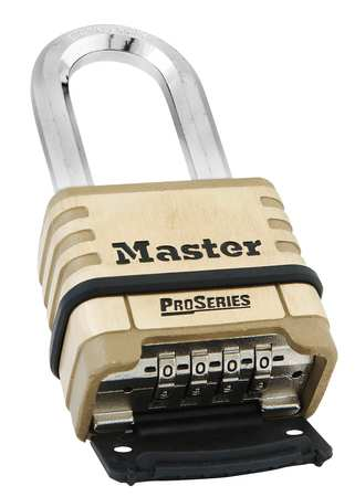 Master Lock 1175DLH Bottom Combination Padlock, Black Silver by Master Lock